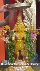 Hanuman Chalisa & Hanuman Abhishekam - Every Tuesday @ Sri Panchamukha Hanuman Temple | Torrance | California | United States