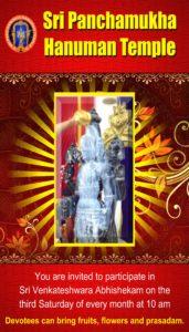 Sri Venkateswara Abhishekam @ Sri Panchamukha Hanuman Temple | Torrance | California | United States