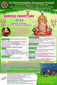 Sri Ganesha Mahotsav @ Sri Panchamukha Hanuman Temple