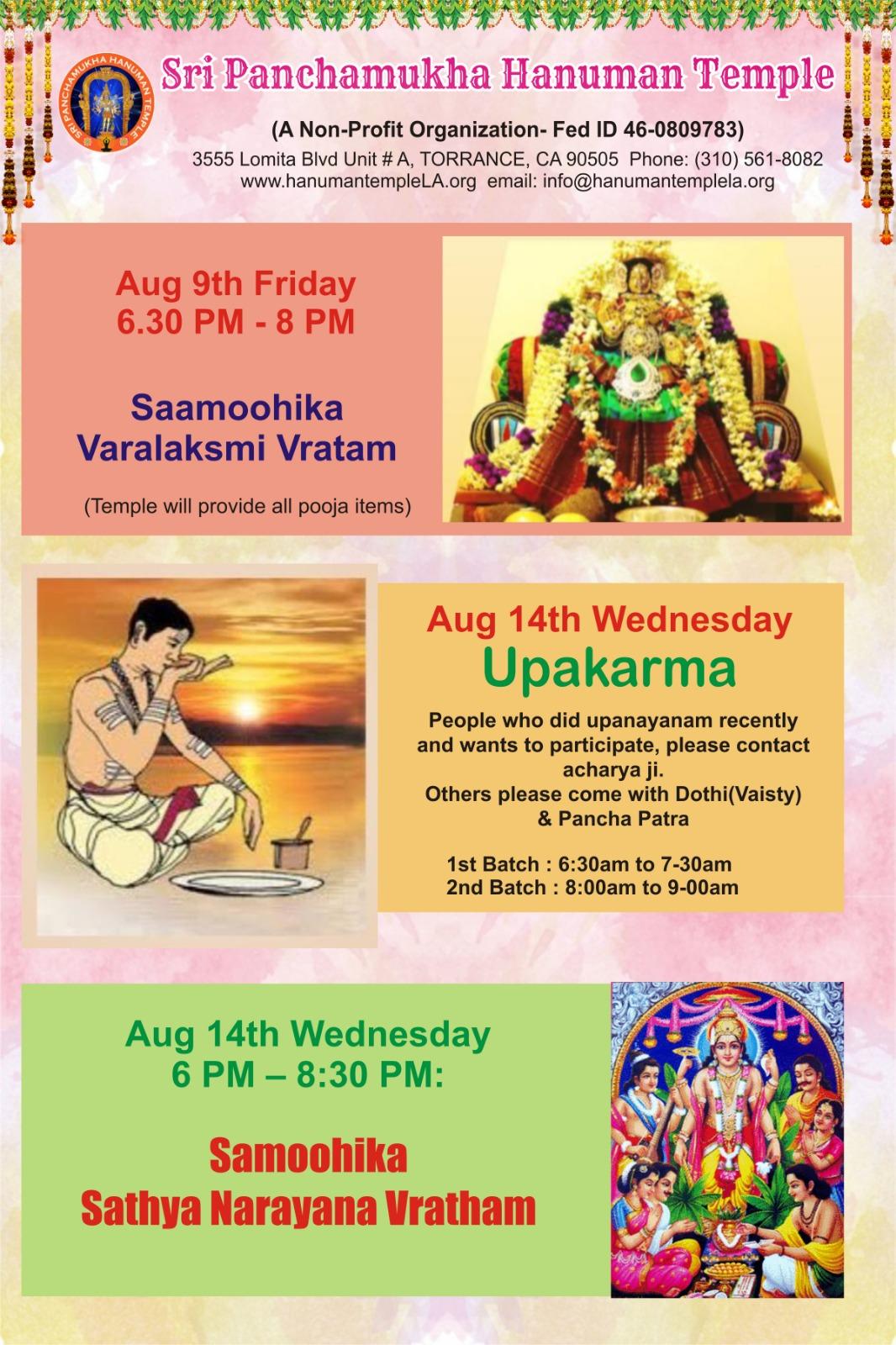 Sunnyvale Hindu Temple Timings