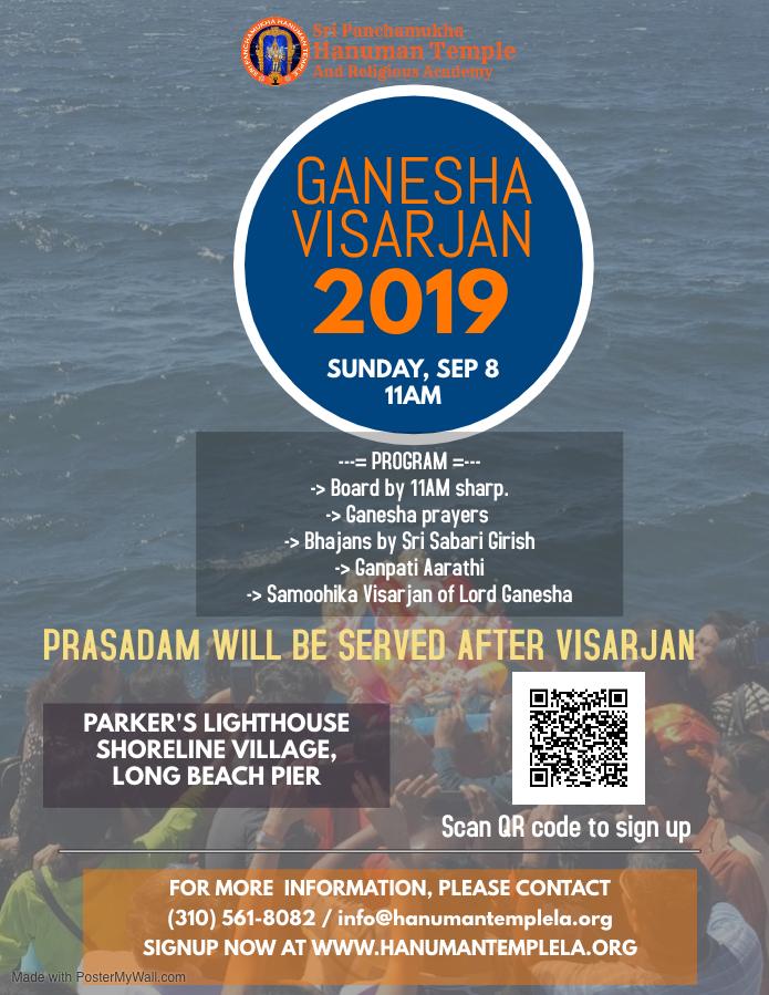 Ganpati Visarjan /Immersion Utsav @ Long Beach Harbor